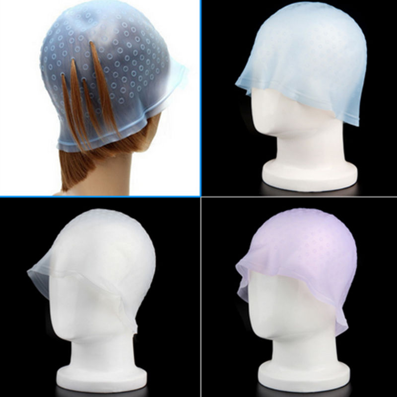 1 Pcs Reusable Hair Colouring Highlighting Dye Cap With Hook Frosting Tipping Color Styling Tools 3 Colors