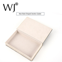 Fashion Book Shape PU Leather Storage Box Jewelry Gift Box Ring Earrings Necklace Bracelet Chain Travel