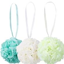 Çiçek öpüşme topu düğün ipek gül topu parti Pomander parti asılı dekorlar
