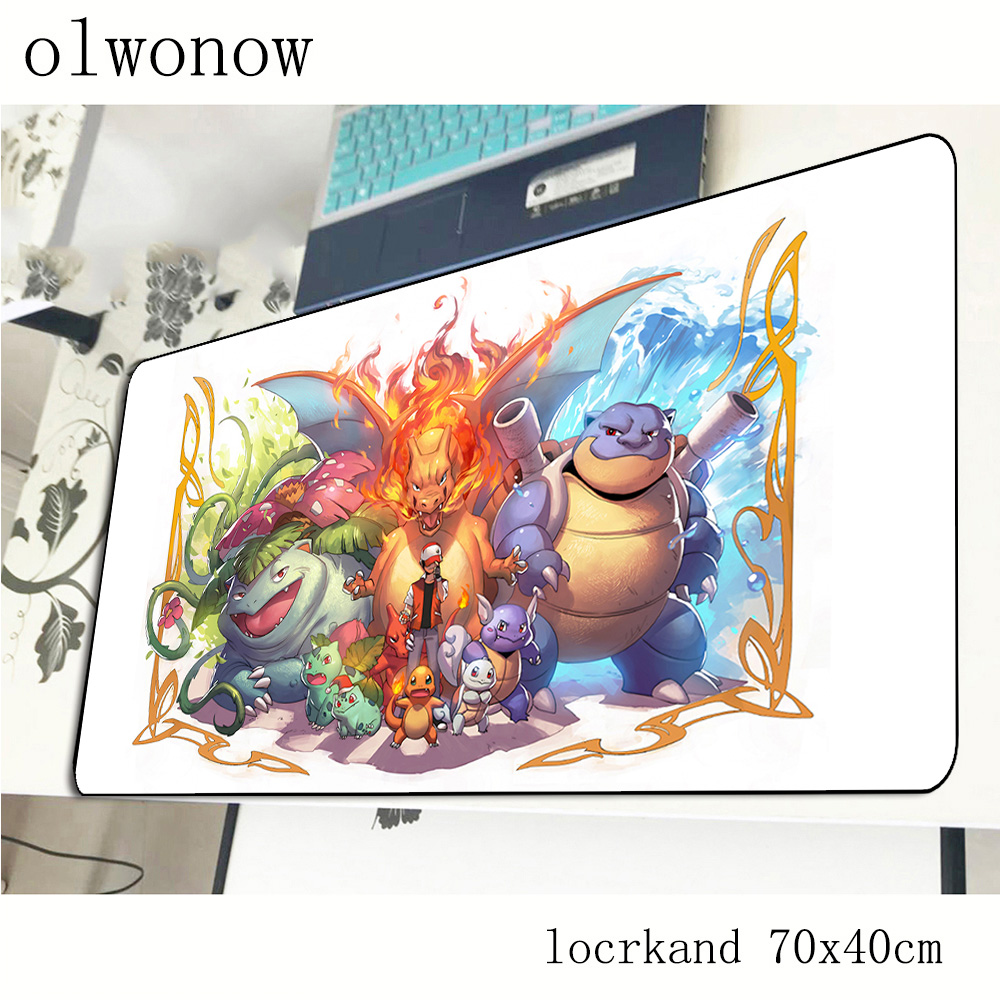 pokemons mouse pad 70x40cm Aestheticism mousepads best gaming mousepad gamer Cartoon personalized mouse pads keyboard pc pad 2