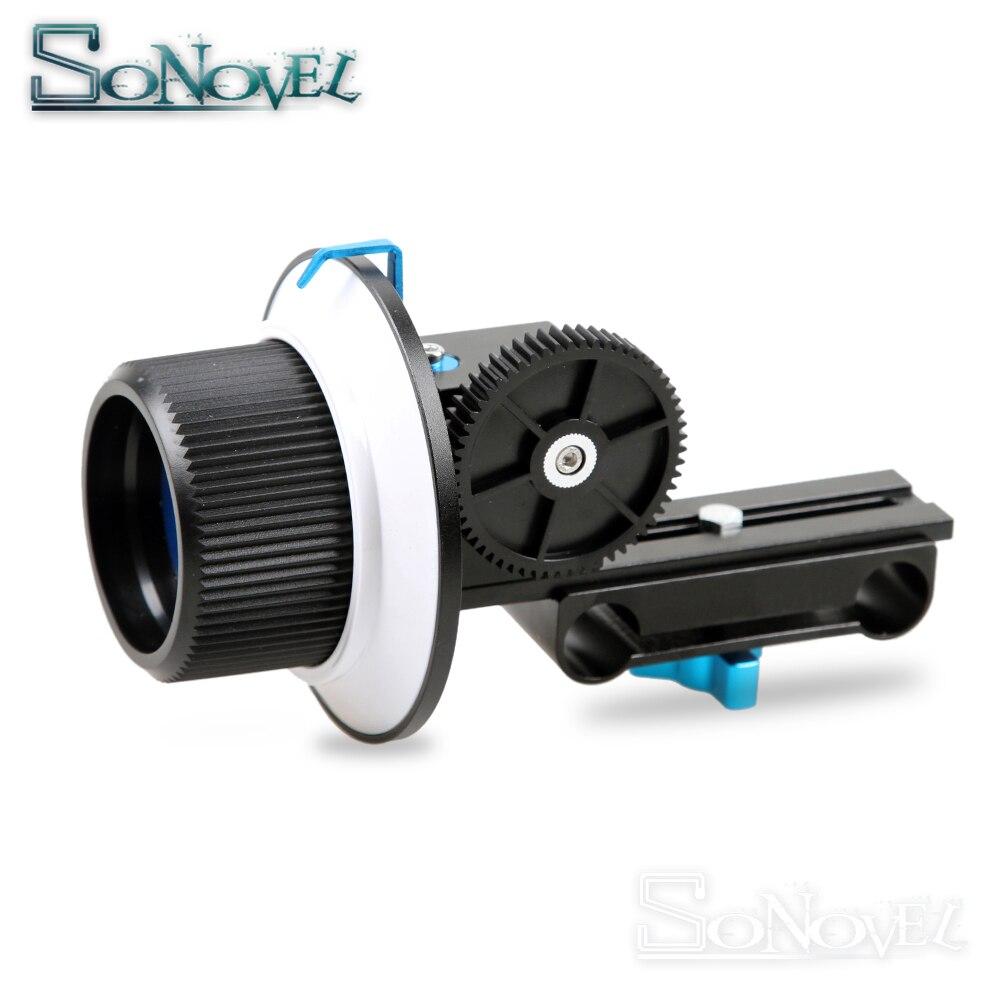 Mise au point précise suivre la mise au point F1 avec courroie de vitesse pour Canon Nikon Sony objectif DSLR appareil photo et caméscope pour appareil photo à tige de 15mm