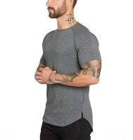Brand Gyms Clothing Fitness T Shirt Men Fashion Extend Hip Hop Summer Short Sleeve T Shirt