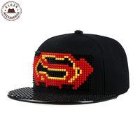 Wysokiej jakości Fajne v superman batman snapback kapelusz DIY legos baseball kapelusz trucker kapelusz dla mężczyzn legos kapelusz dla szkoły chłopcy odpinany