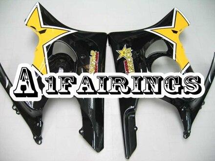 Наборы для тела Honda CBR600F3 1995 1996 ABS Пластик впрыска корпуса мотоцикла Carene CBR600F3 95 96 тела оправа с желтыми линзами со звездами черного цвета