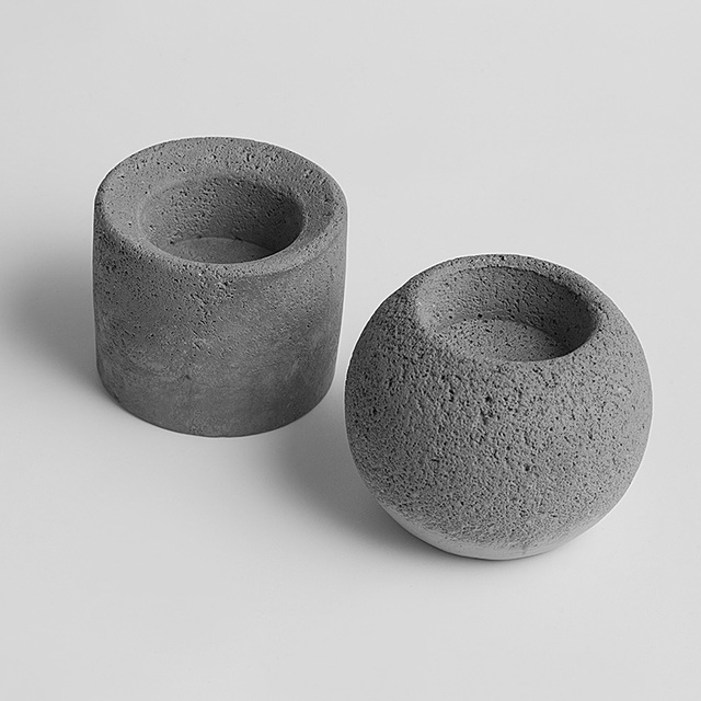 Concrete molds cement candlestick molds cylindrical & ball two type candle  holder mould for home decorations