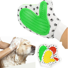 Pet Grooming Glove Deshedding Brush Cat Hair Removal Mitts Combs Dog Massage Supplies  Accessories