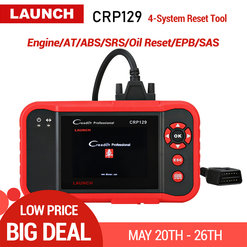 Original Launch Creader 129 CRP129 OBD2 Code Reader CRP 129 OBDII Scanner PK X431 Creader VIII CRP123 Auto Diagnostic ToolOriginal Launch Creader 129 CRP129 OBD2 Code Reader CRP 129 OBDII Scanner PK X431 Creader VIII CRP123 Auto Diagnostic Tool
