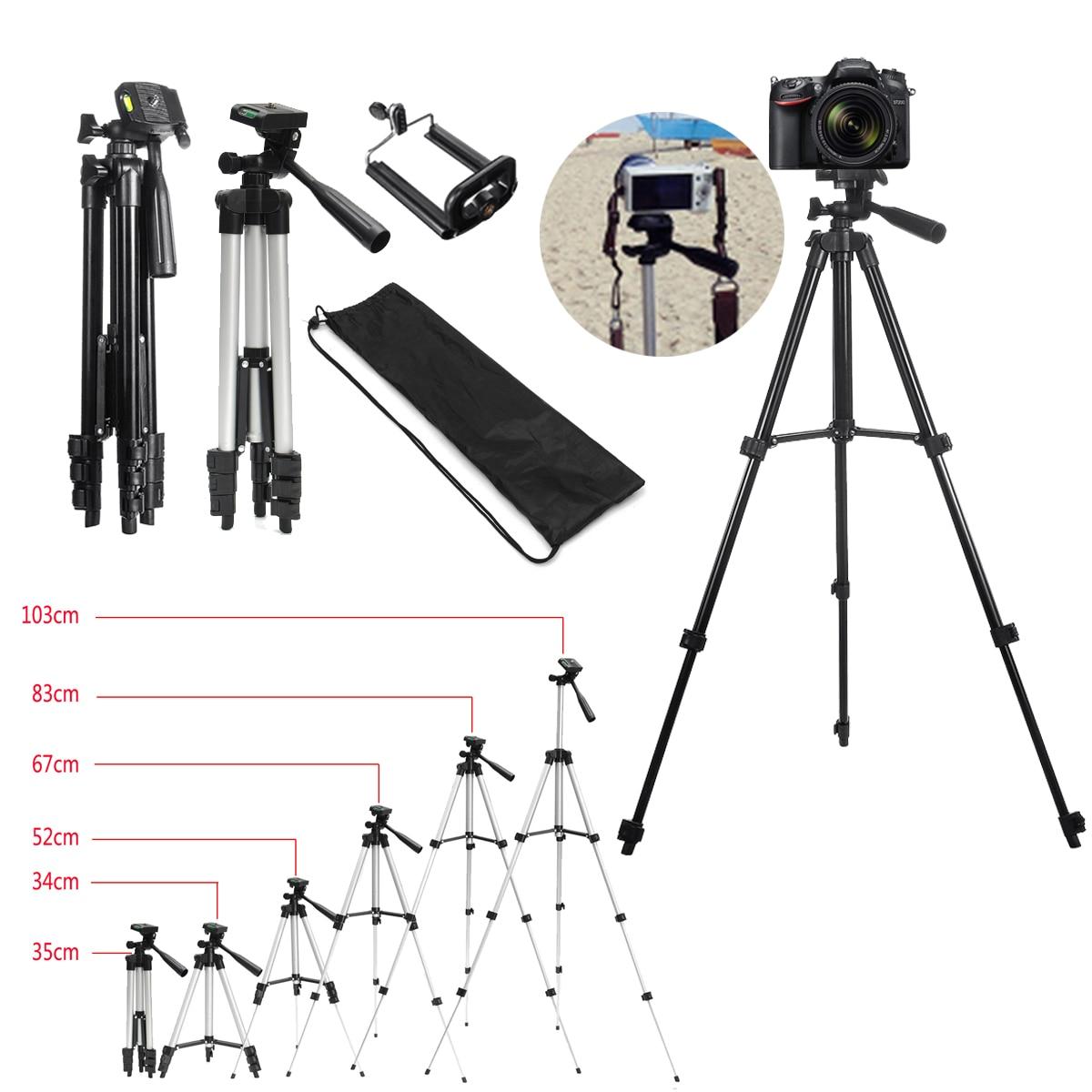 Extensível 36-100cm universal ajustável tripé suporte de montagem titular clipe de câmera suporte de telefone para câmera de telefone celular