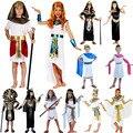 Eypt Костюм Элегантный Король Королева Фараон Одежда Косплей Карнавал Хэллоуин Костюмы для Женщин Мужчины Дети Рождество День Рождения