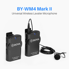 Boya BOYA BY-WM4/BY-WM4 Mark II Wireless Microphone System Lavalier Lapel Mic for Canon Nikon Sony DSLR cameras цены онлайн