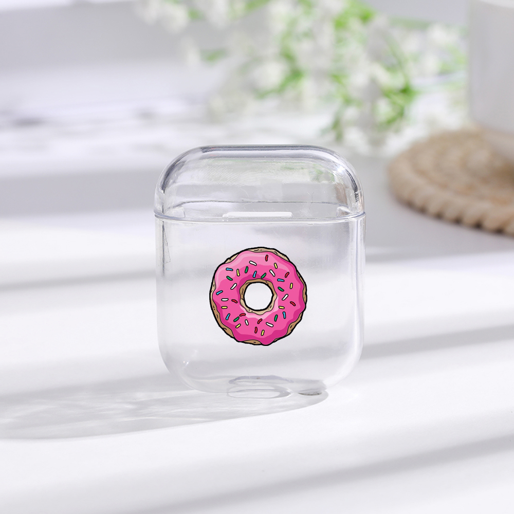Painted Donut Bluetooth Earphone Case For Apple AirPods 1/2 Soft Silicone Charging Headphones Cases For Airpods Protective Cover