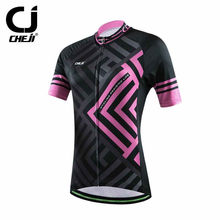 Cheji Ladies Bike Clothing Top Cycling Jersey Bicycle Shirts Bike Wear Top For Women
