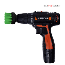 2 3.5 4 5inch Drill Power Scrub, Clean Brush, For Leather Plastic Wooden Furniture Car Interiors Cleaning Scrub Green