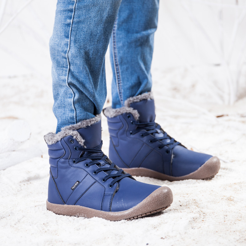 10d6ca6b8 US $21.92 49% OFF|Times New Roman Men Winter Boots Male Snow Ankle Boots  Waterproof Warm Fur Casual Boot Shoes Chaussure Homme Plus Size 36~48-in ...
