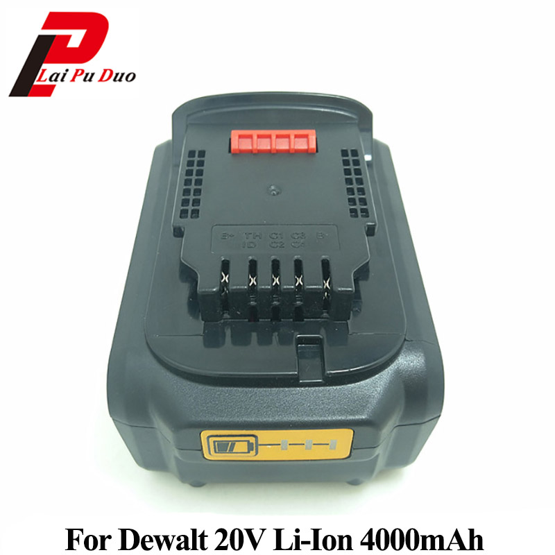 18V/20V Li-Ion 4.0Ah Replacement Power Tool Battery for DEWALT DCB182,DCB183,DCB200,DCB204