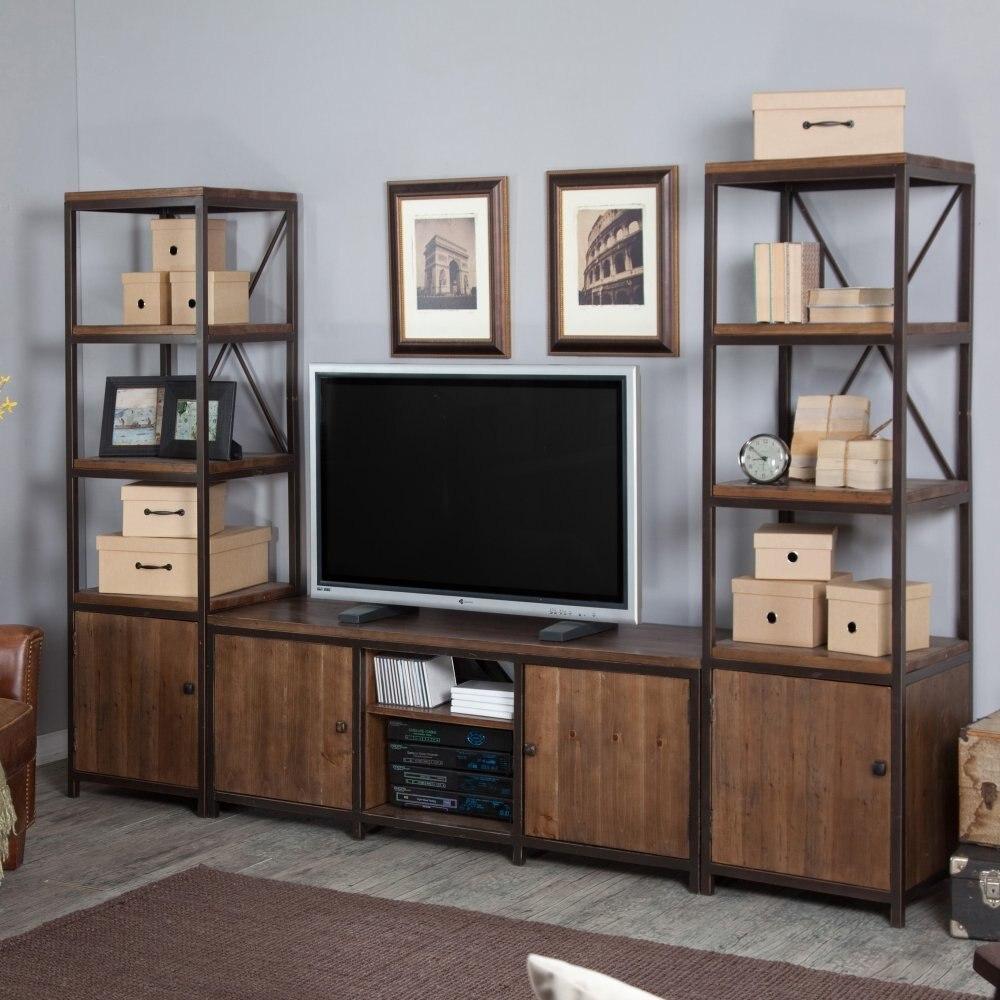 Americana rural retro hierro TV madera mueble TV mueble de la sala ...