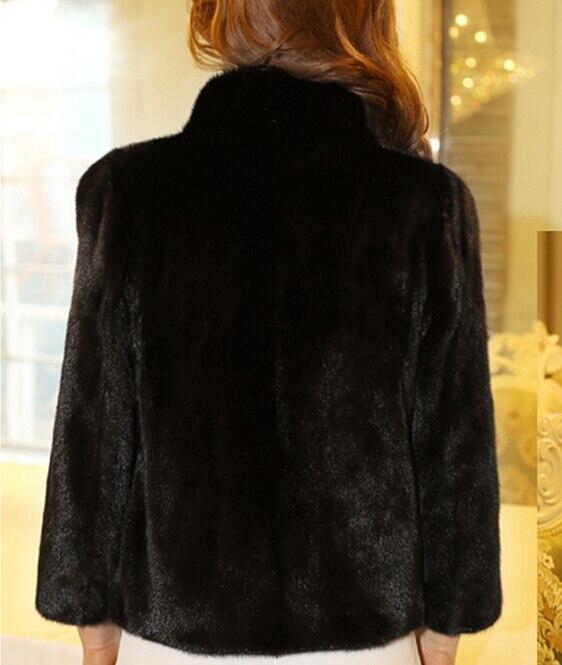 Taille Bolero Femmes Fourrure D'hiver Pour 5xl Lapin 6xl Grande Noir Stand Veste Manteaux Faux Martre Manteau De Col Vison Pardessus AYBd1zzWp