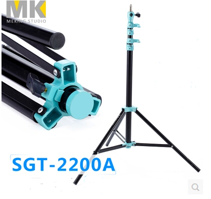 Selens Light Stand 220cm SGT-2200A Photo Video Studio Lighting support system steadycam steadicam high quality 30cm usb 2 0 type b male to female m f extension data cable panel mount for printer cable with screw hole