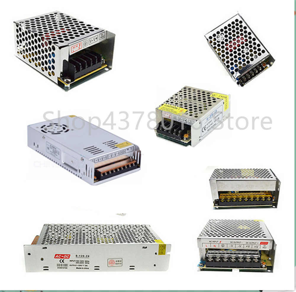 AC 110 V-220 V DC 5 V 12 V 24 V 1A 2A 3A 5A 10A 15A 20A 30A 50A スイッチ電源ドライバアダプタ LED ストリップライト