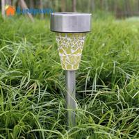LumiParty 3 STKS Mozaïek Rvs Solar Intelligente Licht Mini Vlekken Lamp voor Tuin Landschap 3 Kleur Mengen