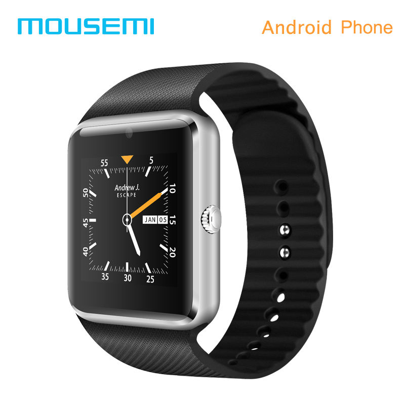 ФОТО MOUSEMI GT08 Plus Smart Watch Android With A Sim Card Smart Watches Bluetooth Phone Function Connecter Smartwatch Wear Wristwach