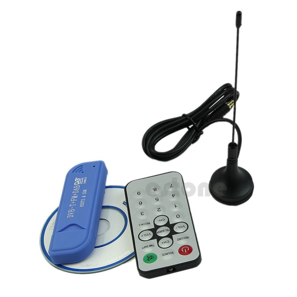 JINSHENGDA Quality USB 2.0 Digital DVB-T SDR+DAB+FM HDTV Tuner Receiver RTL2832U+R820T2 SCA