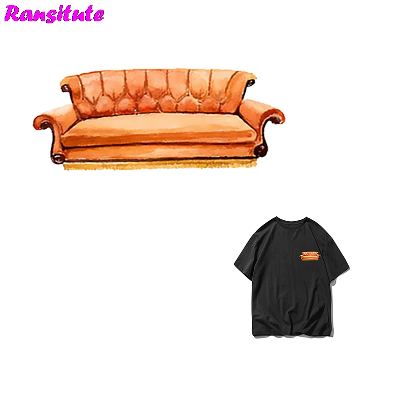 R293   Friends TV Show DIY Clothes Stickers Patch Sofa Style Couple T-shirt A Grade Powder Thermal Transfer Decoration Hot Map