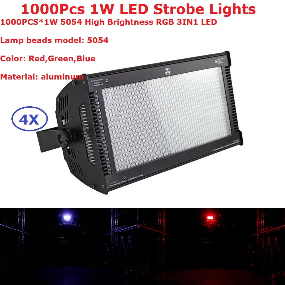 4IN1 Carton Package Atomic 1000W LED Strobe Light DMX Super Bright 1000Pcs 1W RGB 3IN1 Colors LED Flash Lights For Holiday Party atomic force microscopy in process engineering