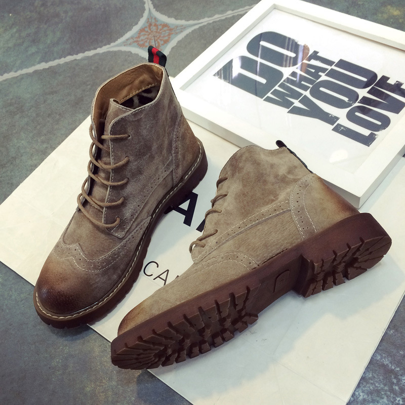 New Leather Boots Fashion Couple Boots Retro Flat Shoes For Boys Casual Shoes Girls Martin Boots For Big Boy Shoes KS193