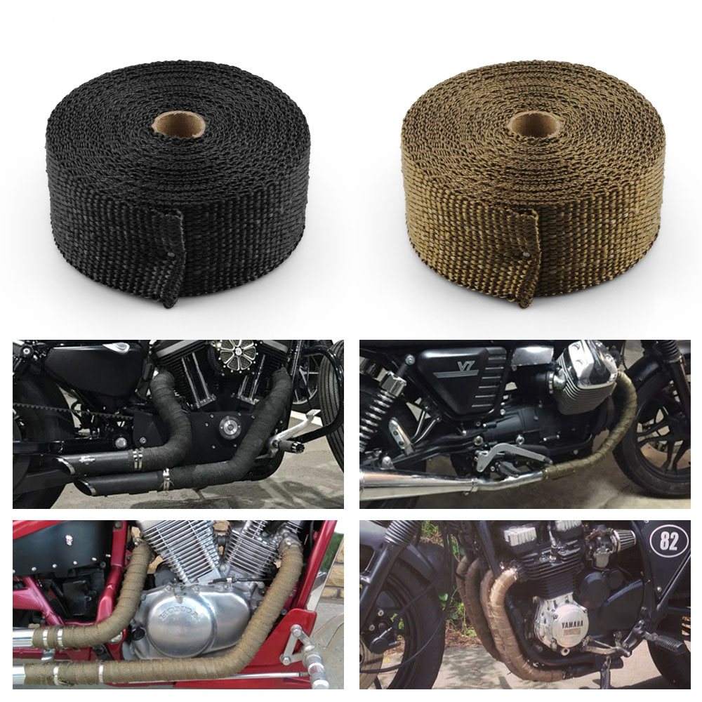 RASTP 10 Meter Exhaust Pipe Header Heat Wrap Resistant Down pipe Stainless Steel Ties for Car Motor Turbo Wrap Tape RS CR1007 in Exhaust Exhaust Systems from Automobiles Motorcycles