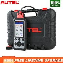 Autel – MD806 Scanner de voiture, outil de Diagnostic automobile, 4 systèmes, EPB/Oil Reset/BMS DPF, batterie supérieure à MD805 MD802