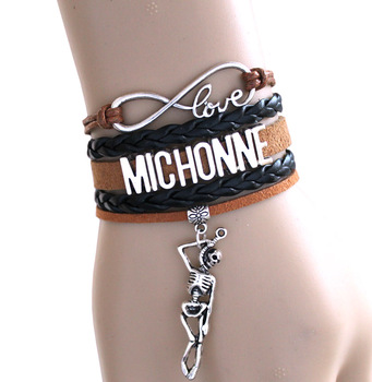 HOT SALE Infinity Bracelet Love MICHONNE fighting With the dead Rick grimes DARYL DIXON Bracelet THE Walking Dead Bracelet image