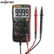Rm109 Палм-Размер True-RMS цифровой мультиметр 9999 отсчетов меандр Подсветка AC DC Напряжение Амперметр Текущий Ом авто/ручной