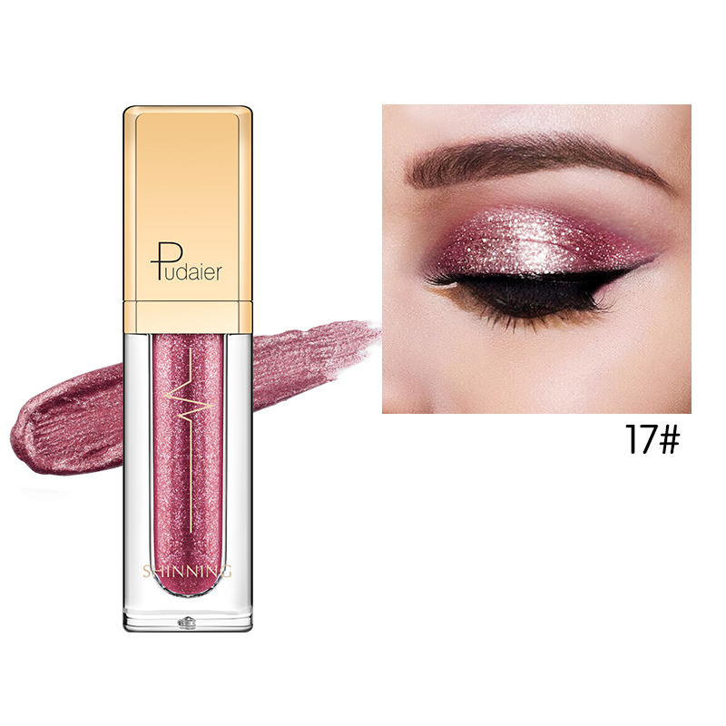Eye Shadow Beauty & Health Pudaier Hot 18 Color Shine Liquid Eye Shadow Diamond Waterproof Long-lasting Eye Shadow Shining Stars Colorful Eye Shadow Makeup