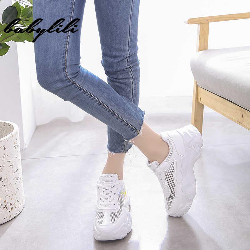 Turnschuhe für Frauen Komfortable Vulkanisieren Frauen Laufschuhe Chunky Turnschuhe Atmungsaktive Schuhe Hohe Qualität Frauen Net Oberfläche Turnschuhe