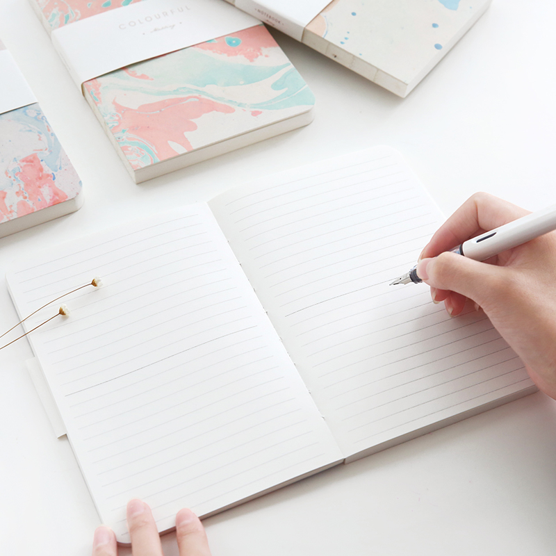 Japanese Oil Paint Notebook Blank Horizontal Grid Notebook 1PCS-in - horizontal writing paper