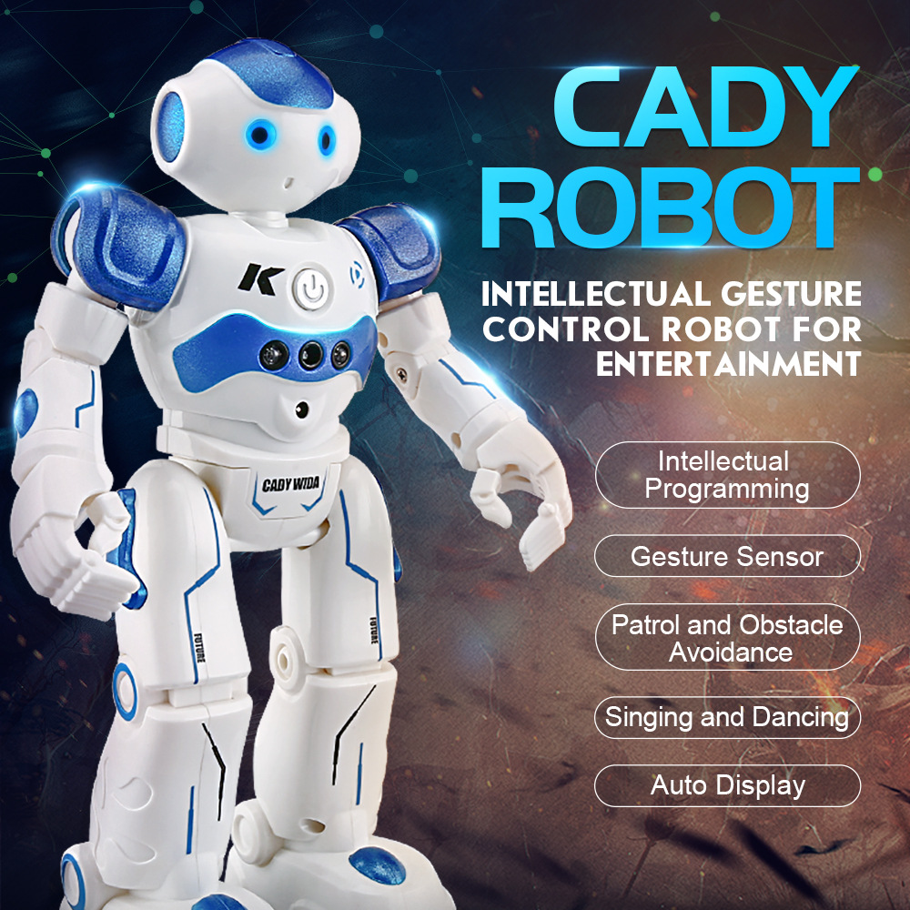 RC Robot Intelligent Programming Remote Control Robot Toy Biped Humanoid Robot For Children Kids Birthday Gift robot dog pet ...