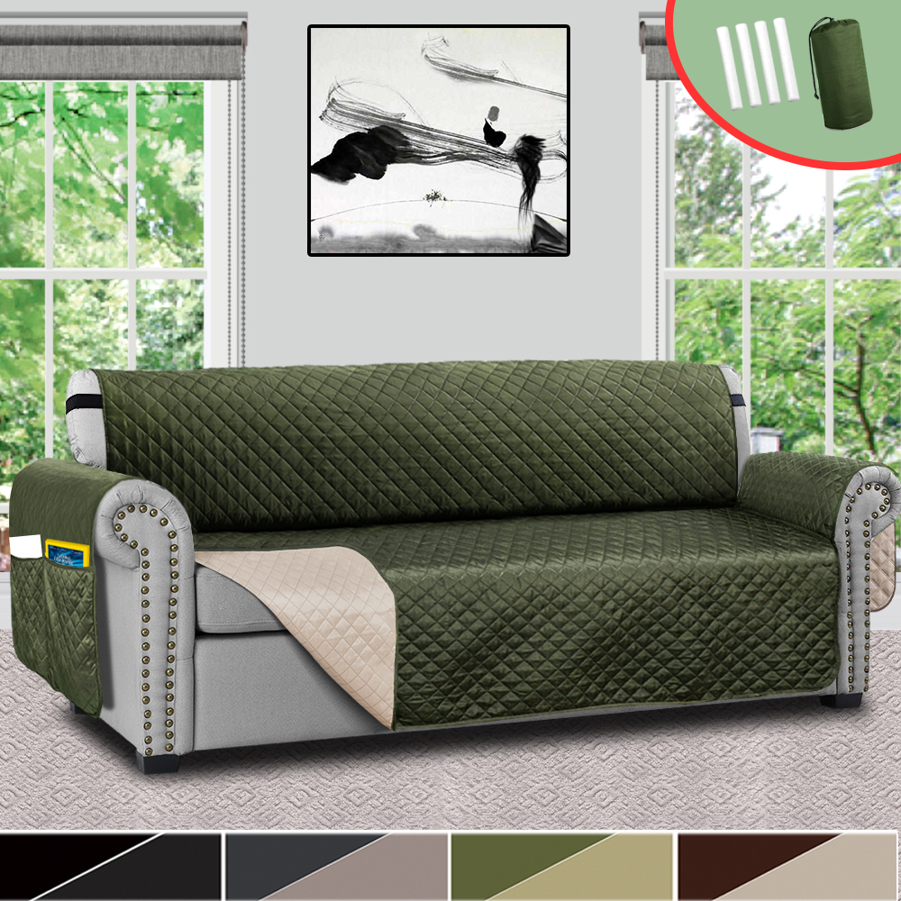 Waterproof Quilted Sofa Couch Cover Pet Dog Kids Mat Stretch Elastic Sofa Cover
