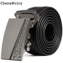 ChenaWolry 1PC Fashion Accessory Elegant Luxury Men Leather Automatic Buckle Belts Fashion Waist Strap Belt Waistband Oct 12