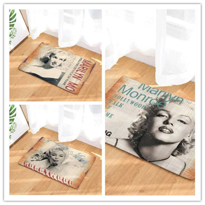 2017 Marilyn Monroe Print Carpets Non-slip Kitchen Rugs for Home Living Room Floor Mats 40x60cm 50x80cm