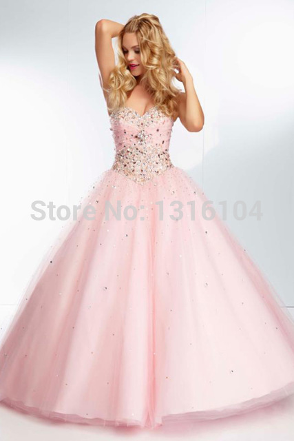 Cecelle 2016 Romantic Sweetheart Ball Gown Prom Dresses Beaded