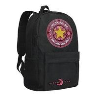 Zshop Cardcaptor Sakura Backpack Magic Circle Pattern Schoolbag for Children Boys Girls Bookbag
