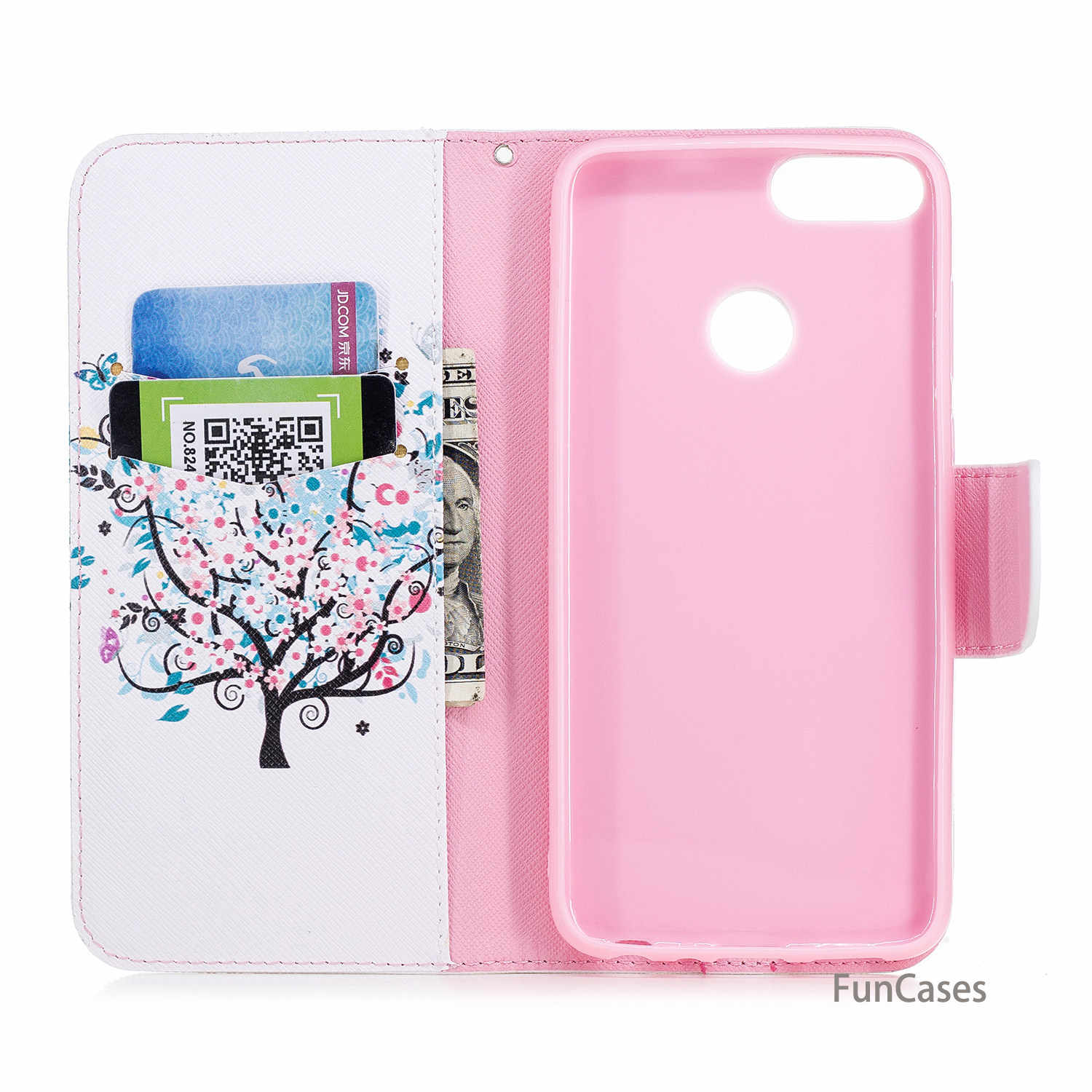 Giraffe Flip Phone Case sFor Cellular Huawei Enjoy 7S Holsters Clips Case Bag Sports Silicone Case For Huawei Ascend P Smart Bag