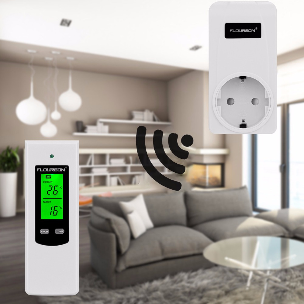 Floureon Wireless Heating Thermostat Rf Plug In