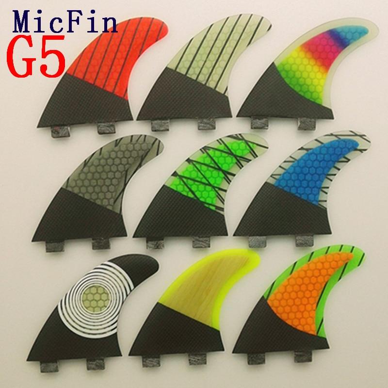 FCS G5 Fin Surf fiberglas Honeycomb karbon Fins Quilhas - Su idmanı - Fotoqrafiya 2