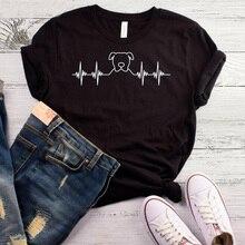 Pitbull Heartbeat Women tshirt Cotton Casual Funny t shirt Lady