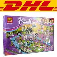 2017 New 1124Pcs Amusement Park Coaster Building Kits Girl Friend Blocks Bricks Toys CompatibleGift 41130