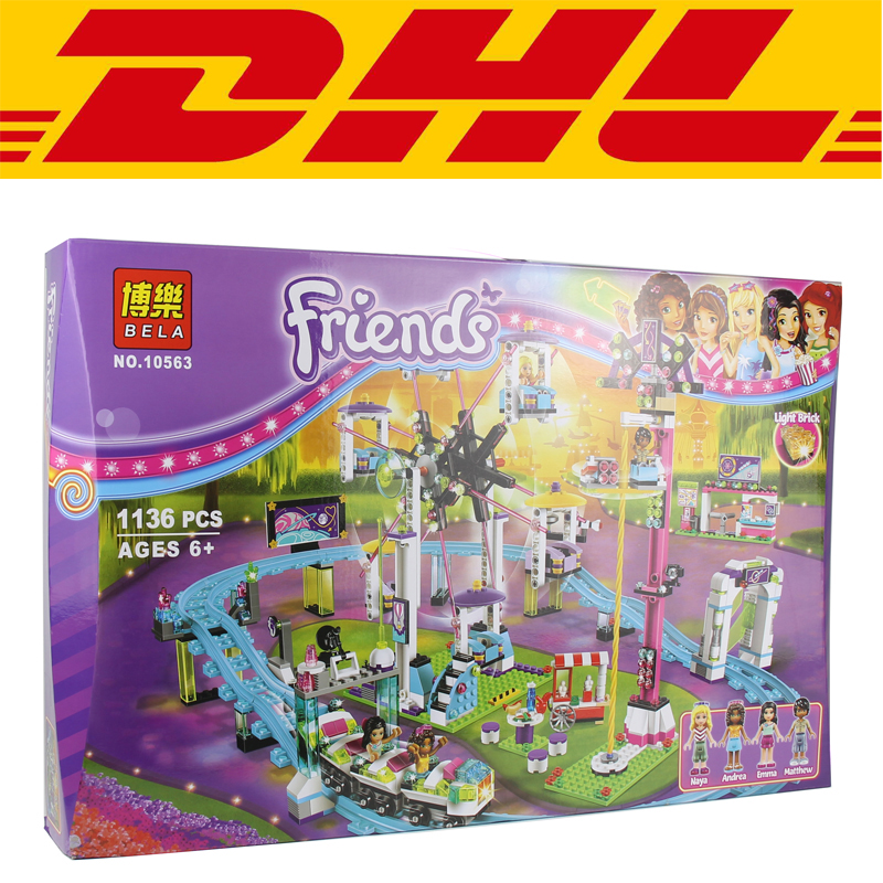 2017 New 1124Pcs Amusement Park Coaster Building Kits Girl Friend Blocks Bricks Toys CompatibleGift 41130 2016 new lepin 01008 1124pcs amusement park coaster building kits girl friend blocks bricks toys compatible gift 4113