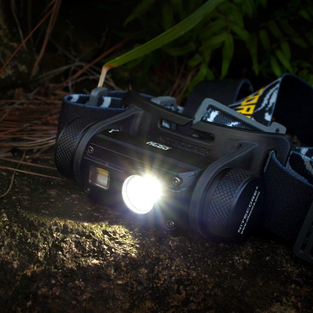 Nitecore HC65 18650 rechargeable LED Phare CREE U2 1000LM Triple Sortie Ourdoor Phare lampe de Poche Étanche Livraison Gratuite - 4