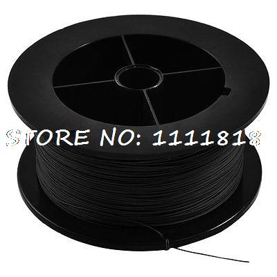 PCB Soldering Black Flexible 0.25mm Core Dia 30AWG Wire Wrapping Wrap 1000Ft white flexible 30awg wire cable high temperature resistant wrapping wrap 315m
